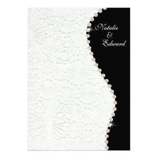 modelo blanco y negro del vintage del compromiso 5 comunicado