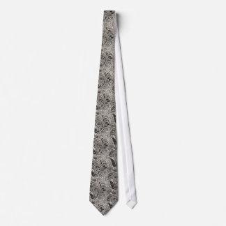 Modelo blanco y negro elegante de Paisley Corbatas Personalizadas