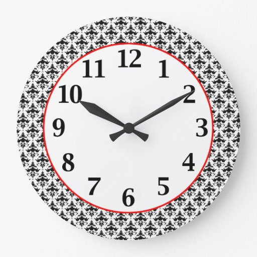 Modelo blanco y negro elegante del damasco relojes