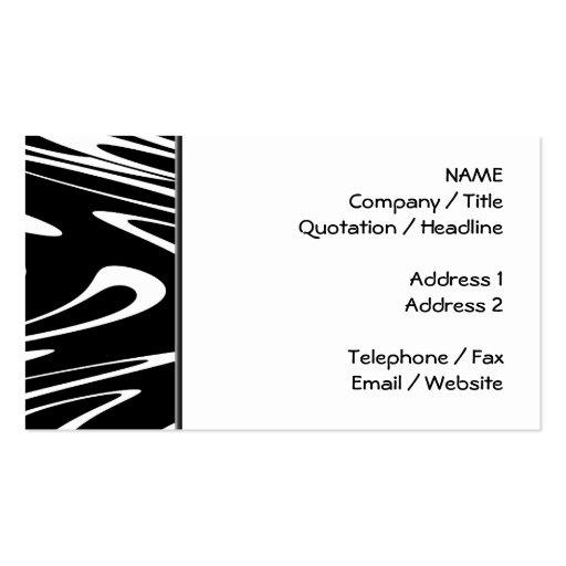 Modelo blanco y negro enrrollado tarjeta personal