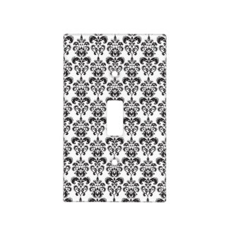 Modelo blanco y negro femenino 2 del damasco del v tapa para interruptor