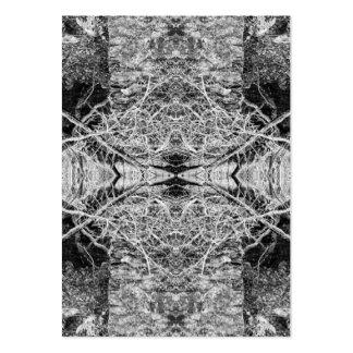 Modelo blanco y negro gótico tarjetas de visita grandes