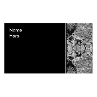 Modelo blanco y negro gótico tarjetas de visita