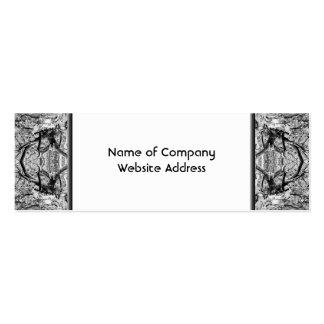 Modelo blanco y negro gótico tarjetas de visita mini