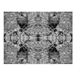 Modelo blanco y negro gótico postal