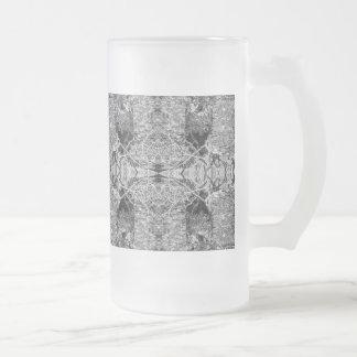 Modelo blanco y negro gótico taza de cristal