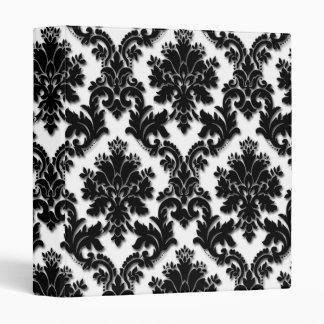 Modelo blanco y negro hermoso del damasco