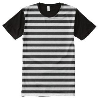 Modelo blanco y negro horizontal de la raya