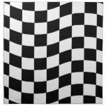 Modelo blanco y negro ondulado del control servilleta de papel