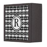 Modelo blanco y negro personalizado del monograma caja de recuerdo de calidad