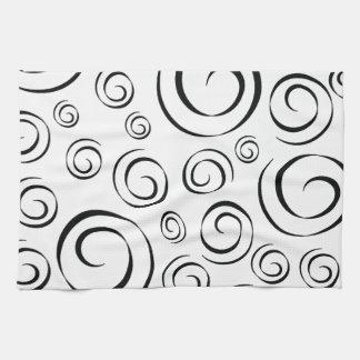 Modelo blanco y negro PT81 del remolino del smokin Toallas