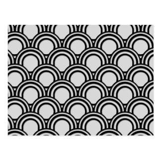 Modelo blanco y negro retro del extracto del art d tarjeta postal