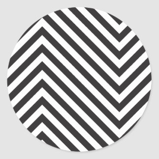 Modelo blanco y negro retro pegatina redonda