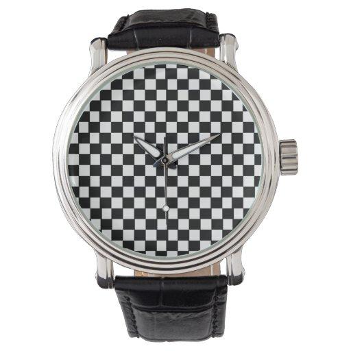 modelo blanco y negro retro relojes de mano