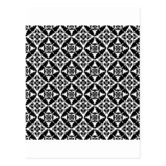 Modelo blanco y negro tarjetas postales
