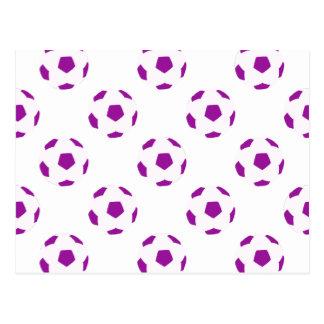 Modelo blanco y púrpura del balón de fútbol postal
