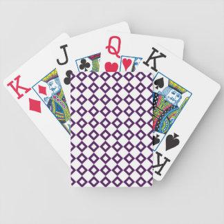Modelo blanco y púrpura del diamante baraja cartas de poker