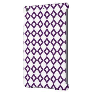 Modelo blanco y púrpura del diamante funda para iPad air