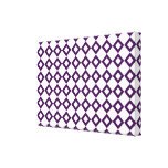 Modelo blanco y púrpura del diamante lienzo envuelto para galerías