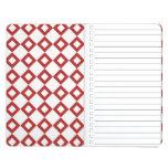 Modelo blanco y rojo del diamante cuadernos grapados