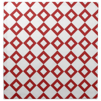Modelo blanco y rojo del diamante servilleta