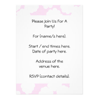 Modelo blanco y rosado de las nubes invitacion personal