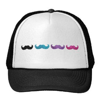 Modelo bling colorido del bigote (falso brillo) gorro de camionero