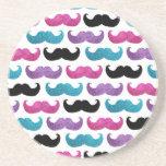 Modelo bling colorido del bigote (falso brillo) posavasos manualidades