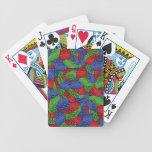 Modelo - bloques huecos de los colores primarios baraja cartas de poker