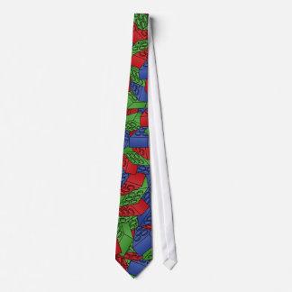 Modelo - bloques huecos de los colores primarios corbata personalizada