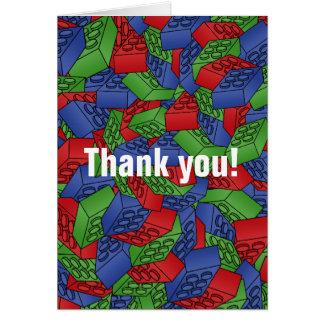 Modelo - bloques huecos de los colores primarios tarjeta de felicitación