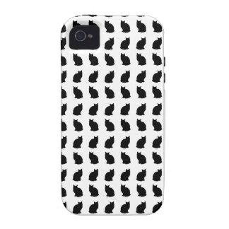 Modelo Bobtail negro del gato Vibe iPhone 4 Funda