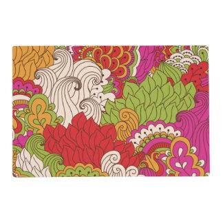 Modelo bohemio colorido de la moda del hippy de la tapete individual