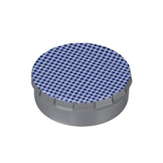 Modelo bonito del control de la guinga del azul jarrones de caramelos