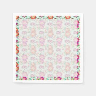 Modelo bonito del papel pintado floral servilletas de papel