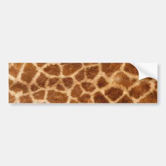 Modelo borroso de la piel de la jirafa pegatina para auto