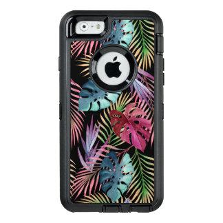 Modelo botánico del follaje tropical de la selva funda OtterBox defender para iPhone 6
