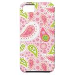 Modelo brillante bonito de Paisley del rosa y de l iPhone 5 Case-Mate Funda