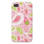 Modelo brillante bonito de Paisley del rosa y de l iPhone 4 Protector