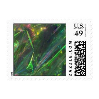 Modelo brillante de la textura de los dobleces del sello postal