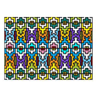 Modelo brillante del africano de los colores plantilla de tarjeta de negocio