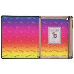 Modelo brillante del bigote del arco iris del mono iPad carcasa