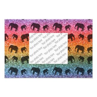 Modelo brillante del brillo del elefante del arco  fotografía