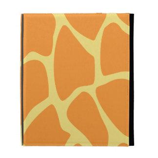 Modelo brillante del estampado de girafa del naran
