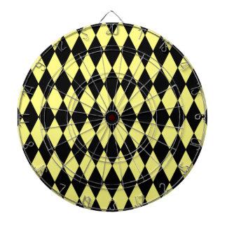 Modelo brillante del Harlequin del diamante amaril Tablero De Dardos
