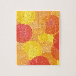 Modelo brillante del naranja amarillo y rojo puzzles con fotos
