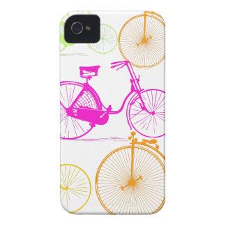 Modelo brillante del neón del color de la biciclet iPhone 4 carcasas