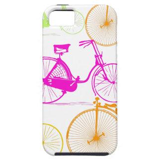 Modelo brillante del neón del color de la biciclet iPhone 5 Case-Mate protectores