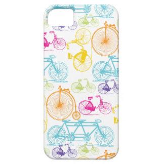Modelo brillante del neón del color de la biciclet iPhone 5 protectores