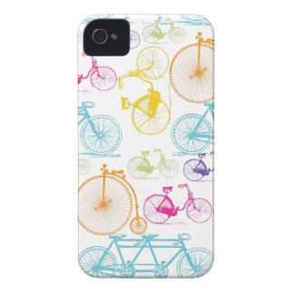 Modelo brillante del neón del color de la biciclet iPhone 4 funda